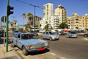Street scene in downtown Beirut, Lebanon, Middle East, Asia