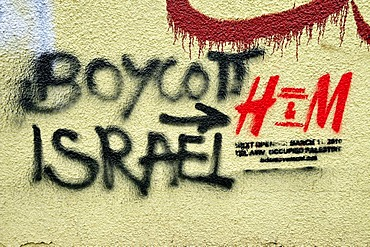 Boycott Israel Graffiti on a wall in downtown Beirut, Lebanon, Middle East, Asia