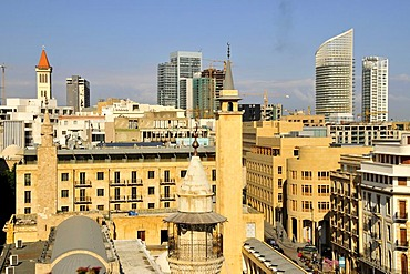 View over the rooftops, Beirut, Lebanon, Middle East, Asia