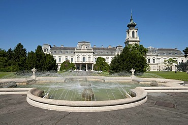 Baroque castle with fountains, Festetics kasteely, Keszthely, Hungary, Europe, PublicGround