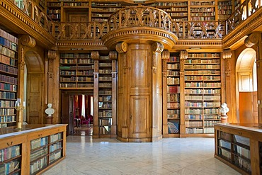 Helikon Library, interior, Baroque castle, Festetics kasteely, Keszthely, Hungary, Europe