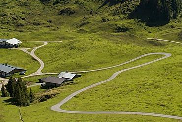 Alpine road on Mt. Kitzbueheler Horn, Tyrol, Austria, Europe