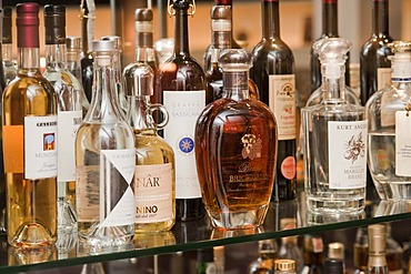 Bar with bottles of alcohol