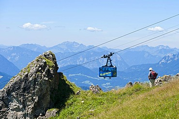Cable car to Mt. Kitzbueheler Horn, Kitzbuehel, Tyrol, Austria, Europe