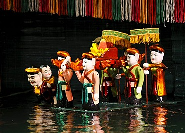 Puppets, Thang Long Water Puppet Theatre, Hanoi, North Vietnam, Vietnam, Southeast Asia