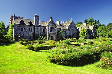 Mansion in a park, Cotohele, Cornwall, England, United Kingdom, Europe