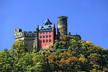 Schoenburg Castle, Oberwesel, Middle Rhine Valley, UNESCO World Heritage Site, Rhineland-Palatinate, Germany, Europe