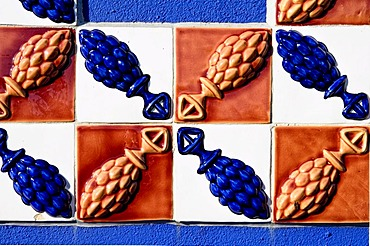 Azulejos, traditional tiles from Portugal, Park Modo Verde, Landgraaf, Limburg, Netherlands, Europe