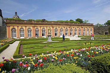 Orangerie parterre, Schloss Weilburg castle, Weilburg an der Lahn, Hesse, Germany, Europe