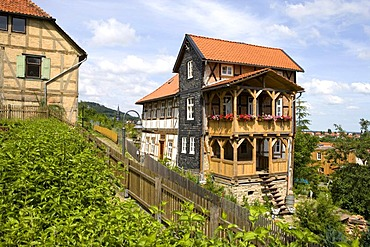 Half-timbered houses in Blankenburg, Harz Mountains, Saxony-Anhalt, Germany, Europe