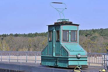 Former lock train, Niederfinow boat lift, Brandenburg, Germany, Europe
