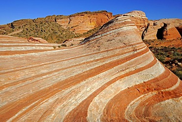 Fire Wave, rock formation, Valley of Fire State Park, Nevada, USA, North America