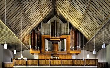 Organ in the Pilgrimage Church of St John the Baptist on Bussen Mountain, Baden-Wuerttemberg, Germany, Europe