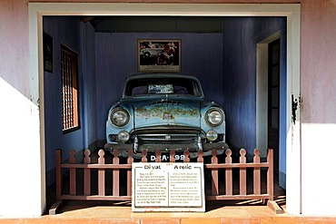 The Austin car which took the Buddhist monk Thich Quang Duc to Saigon in order to burn himself to death as a protest against the government in 1963, Thien Mu Pagoda, Hue, North Vietnam, Vietnam, Southeast Asia, Asia