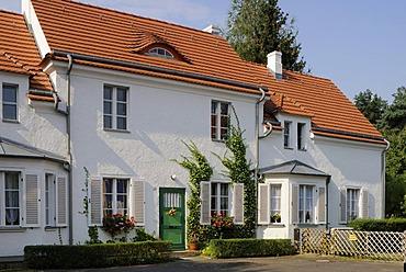 Falkenberg Garden City, ink box colony, Berlin Modernism Housing Estates, architect Bruno Taut, UNESCO World Heritage Site, Akazienhof 13, Altglienicke quarter, Treptow district, Berlin, Germany, Europe