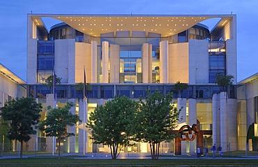 Bundeskanzleramt, German Chancellery, Regierungsviertel government quarter, Tiergarten district, Berlin, Germany, Europe