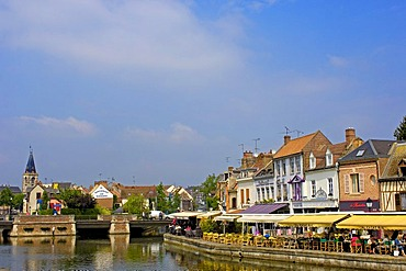 Saint Leu quarter and river Somme, Amiens, Somme, Picardy, France, Europe