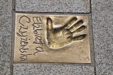 Handprint, walk of fame, Miedzyzdroje, Poland, Europe