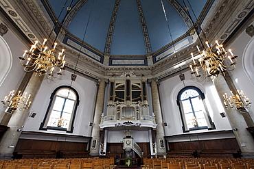Oostkerke church, Baroque domed church with an organ by De Rijkers, Middelburg, Walcheren peninsula, Zeeland province, Netherlands, Benelux, Europe