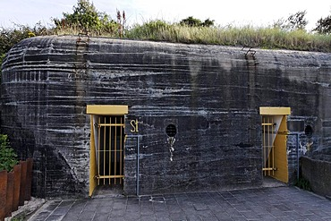 Entrance to a bunker from the second World War, Atlantic Wall 1942, Bunker Museum Zoutelande, Walcheren, Zeeland, Netherlands, Benelux, Europe