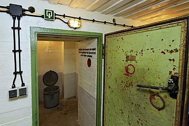Gas lock of a bunker from the second World War, Atlantic Wall 1942, Bunker Museum Zoutelande, Walcheren, Zeeland, Netherlands, Benelux, Europe