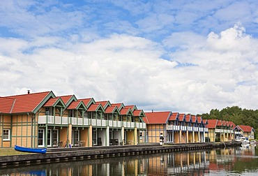 Harbour village Rheinsberg in the Mecklenburg Lake District in Brandenburg, Germany, Europe