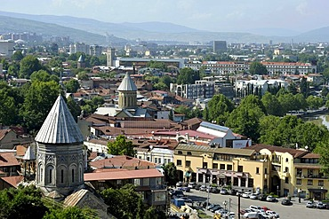 Norashen Church and Sioni Cathedral, city center, historic town centre, Kala, Tbilisi, Georgia, Western Asia