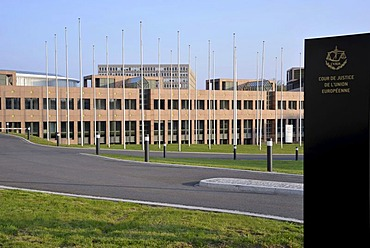 European Court of Justice, Boulevard Konrad Adenauer street, Kirchberg district, city of Luxembourg, Europe