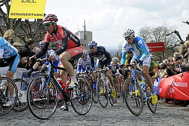 Rund um Koeln, cycle race, elite cyclists, event point Schloss Bensberg, Rheinisch-Bergischer-Kreis district, North Rhine-Westphalia, Germany, Europe