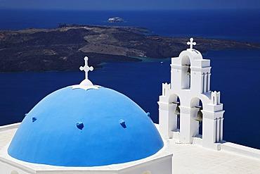 Church of Firostefani, Santorini, Cyclades, Greece, Europe