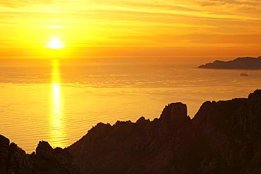 The Calanques, rocky landscape, Gulf of Porto, Corsica, France, Europe