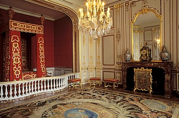 Chambre de Louis XIV, bedroom of Louis XIV, Chateau de Chambord Castle, Loire Valley, Indre-et-Loire, Centre, France, Europe