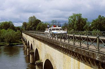 Canal bridge of Digoin, Saone-et-Loire, Burgundy, France, Europe