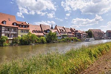"""Little Venice"" on the Regnitz river, Bamberg, Upper Franconia, Franconia, Bavaria, Germany, Europe"