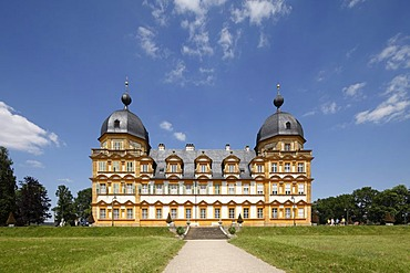 Schloss Seehof castle, Memmelsdorf, Upper Franconia, Franconia, Bavaria, Germany, Europe