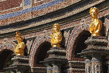 Detail of the orangery, Neues Schloss castle, Eremitage, Bayreuth, Upper Franconia, Franconia, Bavaria, Germany, Europe