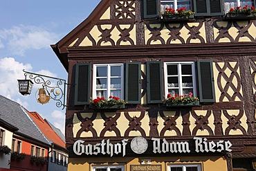 Gasthof Adam Riese, Bad Staffelstein, Upper Franconia, Franconia, Bavaria, Germany, Europe