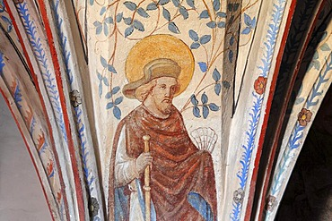 Fresco, Protestant parish church of Langenzenn, Middle Franconia, Franconia, Bavaria, Germany, Europe