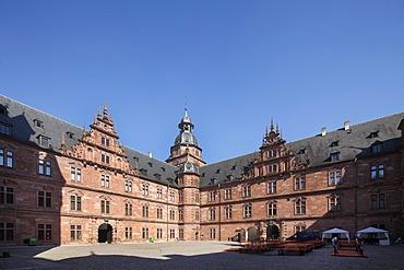 Schloss Johannesburg Castle, Aschaffenburg, Bavarian Lower Main, Lower Franconia, Franconia, Bavaria, Germany, Europe