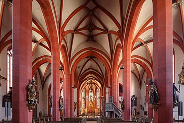 Parish Church of St. Andrew, Karlstadt, Main-Franconia region, Lower Franconia, Franconia, Bavaria, Germany, Europe