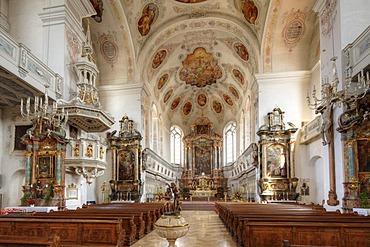 St. Peter's Basilica, Dillingen an der Donau, Donauried region, Swabia, Bavaria, Germany, Europe