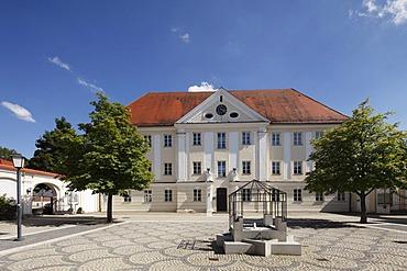 Dossenbergerhaus, Dossenberger Hof, former Further Austrian barracks, Guenzburg, Donauried region, Swabia, Bavaria, Germany, Europe