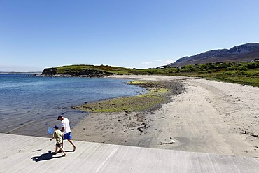 Beach of Lecanvey, Clew Bay, County Mayo, Connacht province, Republic of Ireland, Europe