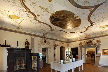 Prelates Hall, Maritime Museum in Schloss Erlahof Castle, Spitz an der Donau, Wachau, Waldviertel, Lower Austria, Austria, Europe