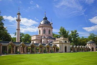 Prayer walk, mosque, Schloss Schwetzingen or Schwetzingen Castle palace gardens, Schwetzingen, Baden-Wuerttemberg, Germany, Europe