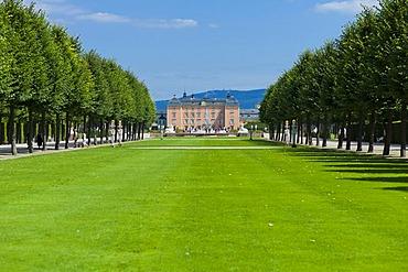 Palace gardens, Schloss Schwetzingen castle, 18th century, Schwetzingen, Baden-Wuerttemberg, Germany, Europe