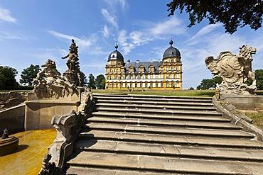 Seehof Palace and Park, Memmelsdorf, Upper Franconia, Bavaria, Germany, Europe