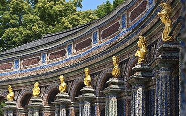 Sun temple, Neues Schloss Castle, Hermitage near Bayreuth, Upper Franconia, Franconia, Bavaria, Germany, Europe