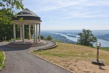 Pavilion at the Niederwalddenkmal monument, UNESCO World Heritage Site, Ruedesheim, Upper Middle Rhine Valley valley, Hesse, Germany, Europe