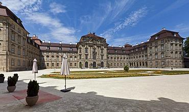 Schloss Weissenstein Palace, built 1711-1718 under Lothar Franz von Schoenborn, Elector of Mainz, Franconian Baroque, Pommersfelden, Upper Franconia, Bavaria, Germany, Europe